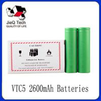 Wholesale Electonic Cigarettes - Hot VTC5 18650 US18650 3.7V 30A 2600mAh VTC5 High Drain Rechargeable Battery For Sony Electonic Cigarette