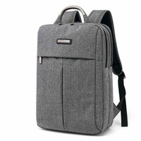 bolsos únicos del ordenador portátil al por mayor-WholeTide- Square Bagpack Oxford Bolsa de tela Unique Design Laptop Mochila Hombre Travel Bag Business Backpack Backbag Hombre
