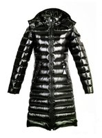 Wholesale M Glossy Parka women Winter jackets duck down coats Female Clothes hoodies Long style top Brand jacket Coat