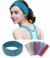 cheetah mix al por mayor-2 pulgadas Cheetah impresión Cotton Stretch Headbands Yoga Yoga Sports Girl Bandas Bandage Goma Turban Bandana