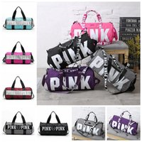 Wholesale Wholesale Yoga Bags - VS Pink Handbags Women Pink Letter Travel Bags VS Beach Bag Duffle Bags Large Capacity Waterproof Yoga Sports Shoulder Bags OOA1680