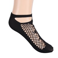 Wholesale Wholesale Nylon Ankle High Socks - Wholesale-Breathable Women Mesh Silk Socks Summer Sexy Female Ultra-0thin Transparent Nylon Short Ankle Socks with Lace High Elasticity