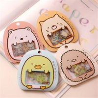 Wholesale Memo Pad Bear - Wholesale- 50  pack Cute Cartoon Kawaii Pvc Decorative Stickers Lovely Cat Bear Diy Memo Pad For Kids School Office Supplies