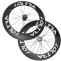 Hot Sale 88mm Clincher / Pompes à engrenages tubulaires roues UD Matte Track Bike Wheelset LOLTRA White Decal Carbon Bike Wheels