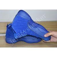 Wholesale Royal High Basketball - High Quality Retro 12 Premium Deep Royal Blue Suede Womens Mens Basketball Shoes, Air Retro Sport Sneakers Eur 36-47