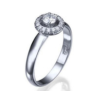1/2 CT Simulation Diamond ROUND CUT ENGAGEMENT RING 14K WEISS GOLD SOLITAIRE D SI1 9263