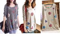 Wholesale Sweaters Womens Pullovers Knitwear - 2017 New Womens Long Sleeve Knit Pullover Jumper Loose Top Shirt Knitwear Sweater Plus Size