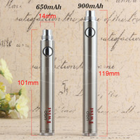 Evod Twist Variable Voltage Vape Pen Battery 650mah 900mah UGO eGo C Twist Micro Passthrough para 510 Thread Vaporizer Atomizer Wholesale