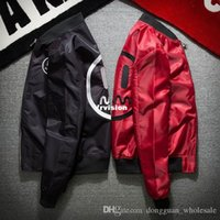 Wholesale Red Military Jackets - dongguan_wholesale in stock 2018 Mens MA-1 Pilot Bomber Jacket Male Nylon Smile face Embroidery Army Green black, red Military Air Force Fli