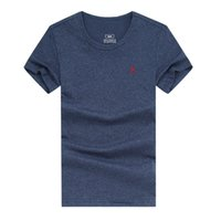 Wholesale T Shirts For Men Lycra - Free shipping 2018 small Horse cotton new O-neck short sleeve t-shirt brand men T-shirts casual style for sport men T-shirts