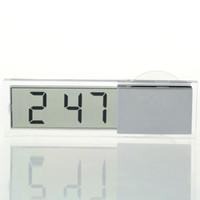 Wholesale Digital Transparent Clock - Wholesale-Proable Display Digital Car Electronic Clock Mini Durable Transparent LCD with Sucker