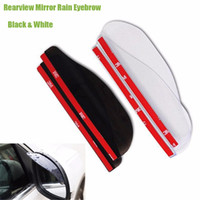 Wholesale Car Rain Rear - 2pcs Pair Premium Universal Rear Mirror Rain Board Eyebrow Visor Shade Shield Water Guard For Car Truck SUV ATV