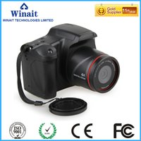 Wholesale Microphone Slr - Wholesale-Freeshipping Half DSLR Camera DC-05 12MP Built-in Microphone Self-time High Cost Performance Digital Camera