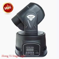 preise bewegte lichter großhandel-LED Moving Head Gobo Projektor DMX 512 Gobo Spot 15W LED Mini Moving Head Licht DJlight Disco Licht Neupreis