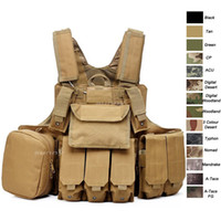 Nylon sports body armor - Outdoor Sports Outdoor Camouflage Body Armor Combat Assault Waistcoat Tactical Molle Vest Plate Carrier Vest NO06