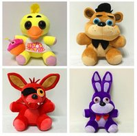 Wholesale Plush Toys China - new 1pieces lot 25cm 4style plush Bonnie china foxy freddy doll toy Furnishing articles Children's gift