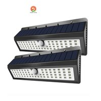 Wholesale Pir Sensor Human Body - Solar light 800LM Waterproof IP65 Solar Powered 62 LED PIR Human Body Motion Sensor Wall Light Outdoor Garden Lamp 8W