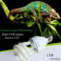 Wholesale Tortoise Led Light - Heat Emitter Ultraviolet Light Bulb E27 5.0 10.0 UVB 13W Pet Reptile Light Glow Lamp Daylight Bulb for Tortoise Fish Amphibians