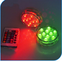 lámparas de tanque al por mayor-Lámpara de Buceo Lámpara de Vela Fish Tank Candle LED Control Remoto Lámparas Impermeables Wedding Party Decoration Reutilización Multicolor Nuevo 15dm H R