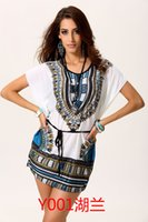 Wholesale cheap price hot selling custom floral dashiki pattern printed style spandex polyester short sleeve a line summer dresses for women