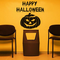 Wholesale Mask For Wall - High Quality Happy Halloween Pumpkin Mask Wall Stickers Vinyl DIY Western Home Decor Creative for Living Room