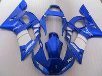 Wholesale Top Fairing R6 - Top selling fairing kit for Yamaha YZF R6 98 99 00 01 02 blue white fairings set YZFR6 1998-2002 OT21