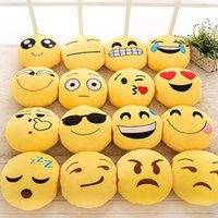 Wholesale Hand Embroidered Cushions - 35cm  18cm Cute Emoji Pillow Plush Pillow Cushion Decorative Pillow Plush Toys Decorative Pillows Hand warmer Christmas Gift