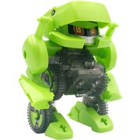 Wholesale Kids Animal Toys Move - Promotional 6-in-1 Solar Power Robot Kit Toy Educational and Fun to Make Boat Fan Car Robot Moving DIY Boy Toys Green Blue 2 Styles