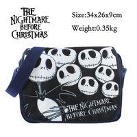 Wholesale Nightmare Before Christmas Cartoon - Wholesale- 2016 New Cartoon Bag The Nightmare Before Christmas Messenger Canvas Bag Shoulder Bag Sling Pack School Bags