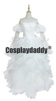 Wholesale custom code geass cosplay online - Code Geass Euphemia White Luxury Lace Dress Cosplay Costume