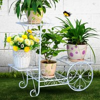 Wholesale Wrought Iron Garden Decorations - 4 tier outdoor garden wedding decoration wrought iron plant stand