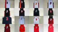 Wholesale Cheap Browning Shirts - 2017 Hot sale Mens 3 Dwyane Wade Best Quanlity Basketball sport shirt Jerseys embroidery take with player name logo Free fast Shipping cheap
