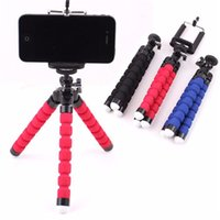 Wholesale Gopro Camera Brackets - Flexible Tripod Holder For Cell Phone Car Camera Gopro Universal Mini Octopus Sponge Stand Bracket Selfie Monopod Mount With Clip
