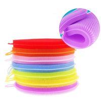 almohadillas de tazón al por mayor-Lave los cepillos Magic Silicon Dish Bowl Cepillos de limpieza Almohadilla para fregar Olla Lavar los cepillos Limpiador de cocina