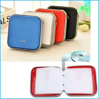 Wholesale Dvd Car Holder Bag - Car CD DVD Disk Card Case Holder Storage Organizer Bag, 5 Colors CD Inside Carry Case