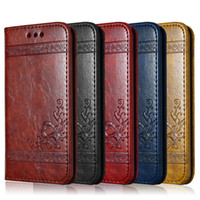 Wholesale Luxury brand leather wallet flip phone case For iPhone S Plus Samsung Galaxy S6 S7 Edge with card slots embossing