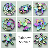 Wholesale Wholesale Stuff Monkeys - Rainbow Fidget Metal Spinner Chinese Style Monkey King Rotation Fire Wheel A&B Decompression toys Metal Colorful Stuff for Big Kids