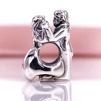 Atacado 925 Sterling Silver First Dance Charms Beads Fit Pandora Snake Chain Pulseira e colar DIY Fashion Jewelry791396