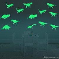 ingrosso murales dinosauri per bambini-Wall Sticker Luminoso 3D Creativo Dinosauro di Arte Murale Fluorescenza Light Decal Per Kid Room Water Proof 7 5gf F R