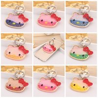 Wholesale Cell Phone Accessories Cat - Cell Phone Stand Holder Creative Universal Cartoon KT Cat Ring Holder Finger 360 Degree Finger Ring Stand 8 Colors Mobile Accessories XY106