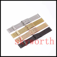 Wholesale stainless steel mesh watch straps - Luxury Milanese Mesh Stainless Steel strap for Apple watch band Wristband with belt Bracelet Straps black sliver gold rose smart girl