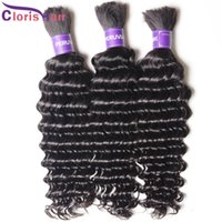Wholesale curly braiding hair weave for sale - Group buy Deep Wave Malaysian Bulk Human Hair For Extensions No Weft Soft Curly Braiding Hair Weave Bundles Unprocessed Braiding Hair In Bulk