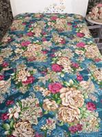 hellrosa blühende bettwäsche großhandel-Bettlaken-kundenspezifische Größen-Bettwäsche stellt bequeme Baumwollbettlaken des Blumendruckgewebes 7 Farben freies Verschiffen ein
