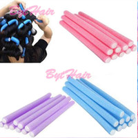 Wholesale Hair Curler Spirals - Bythair Free Shipping Hair Rollers 10x Hairstyle Foam Curler Roller Stick Spiral Curls Tool DIY Bendy Hair Styling Sponge In Large Stocks