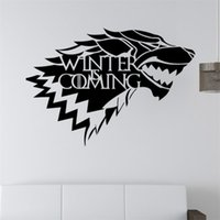 Wholesale Graphic Design Games - Direwolf design graphic vinyl wall sticker the Sigel of Stark family from Game of Thrones wall decal murals vinilos pegatinas de pared 3093