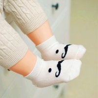 Wholesale Funny Baby Socks - DHL Wholesale New Fashion Cotton Funny Beard Mustache Baby Socks Newborn Baby Girl Boy Socks 1-4 Years