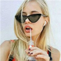 Wholesale Chic Frames - 2017 New Sexy Elegant Cat Eye Sunglasses Floral Oval Sun Shades Chic Lady Sunnies Eyewear Brand Designer Sunglasses Women UV400 S1812