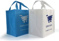 Wholesale Reusable Bags Logo - Wholesale- Wholesales1000pcs lot 38Hx32x22cm Custom Personalized 100g Reusable Non Woven Bags Grocery Tote Shopping Bags With Printed Logo