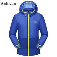Wholesale Trench Coat Men Wholesale - Wholesale- Anbican Fashion Men's UV Sun Protection Clothing Breathable and Waterproof Summer Trench Men Lightweight Sun Protection Coat
