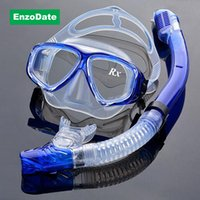 All'ingrosso-ottico Diving Gear Kit miopia Snorkel Set, Forza differente per ciascun occhio, Maschera Nearsighted Scuba, Dry Top temperato Occhiali
